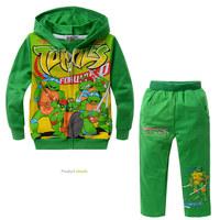 Teenage Mutant Ninja Turtles cotton children clothing set boys hoodies + pants Blusas Moleton casacos conjunto infantil