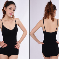 2014 Fashion Womens Sexy Jumpsuit Top Women Bodysuit Basic T shirt Body Magic Women Body Shaper With Strap High Quality