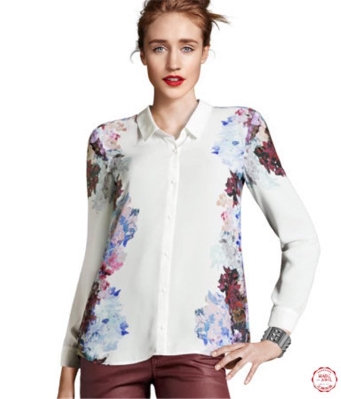 Картинки Блузки Цветочный Принт