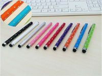 For iPhone iPad Tablet For Samsung Galaxy Note Phone Cellphone Crystal Capacitive Touch Screen Handwriting Stylus Pen 800pcs/lot