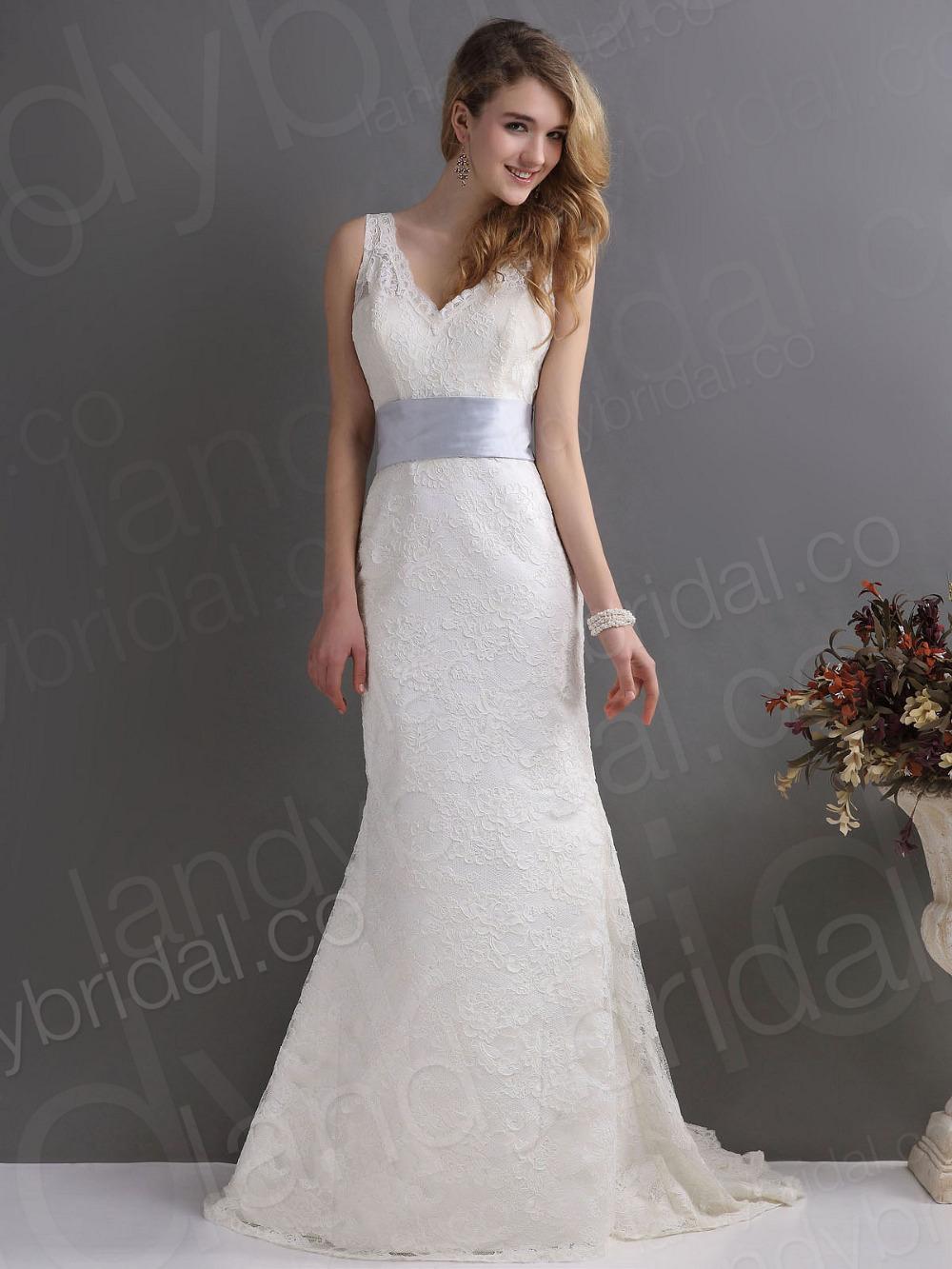 Wedding Dresses With Lavender Ribbon 11