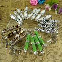Free shipping 2015 New Item Hot sale 6pcs a lot  Fashion Colorful Crystal  Ballpoint Pen Mini Pen