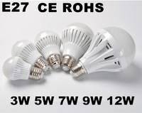 5pcs High brightness Diode E27 Led Bulb Lamp 2835SMD 3W 5W 7W 9W 12W AC110V 220V 230V 240V Cold/Warm White