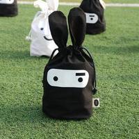 2 pcs/lot  free shipping rabbit cute fabric pouch drawstring pouch bags finishing debris bags daily bags