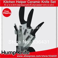 """4"""" 5 """"6""""inch 6 color Handle Can Select Ceramic Knife Set + Peeler + Holder kitchen ceramic knives"""