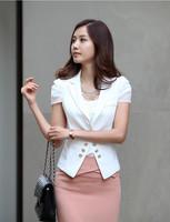 2014 Korean version of Slim suit women suit jacket chiffon lace stitching free shipping
