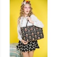 2014 Spring Shopping Cute bear pattern Girls shoulder bag Sweet beautiful people canvas bag