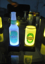 OEM Accepted Calling Function Promotion Gift Color Tailored Beer Can/ Beer Bottle LED Lamp Room /Pub Decorative Lamp (China (Mainland))