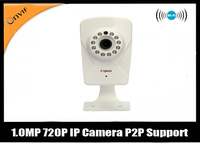 Free shipping   1.0MP Wireless  IP Camera Pan/Tilt Home Security Surveillance System CCTV Camera with P2P+Onvif