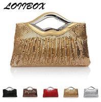 Lolibox evening bag fashion full bling handbag luxury aluminium flake bag marry bag evening bag