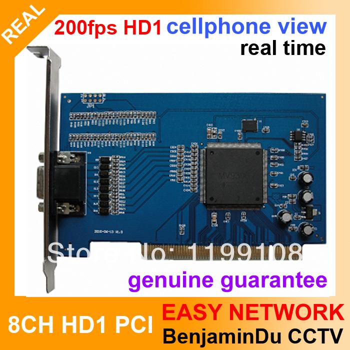DVR CARD 8ch Cameras Video / 4CH Audio Input BNC PCI DVR Card Support 8CH halfl D1 Recording(China (Mainland))