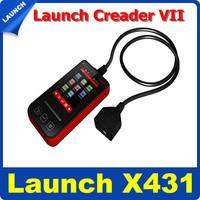 2014 New Arrival Professional creader 7 Fault OBDII/EOBD Code Reader Launch Creader VII Update via Internet Free Shipping
