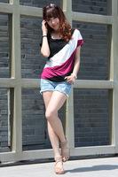Hot sales new spring 2014 for women girl women t-shirt and t shirt women shirt women   Multi-Color TF1