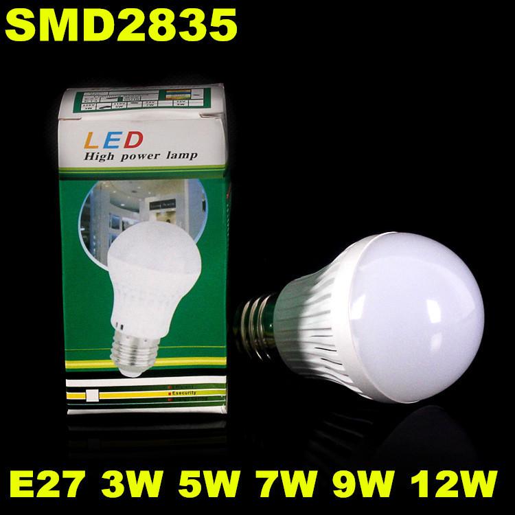 100pcs Quality Assurance E27/E14/B22 Light Bulb 3W 5W 7W 9W 12W Led Bulb Lamp AC 110V 220V Cold/Warm White Led Spotlight(China (Mainland))