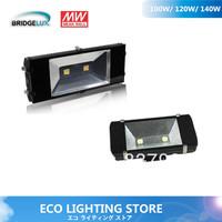 High quality LED floodlight 100W tunnel lights Bridgelux 45mil G1 chip& MEANWELL driver 115~125lm/W AL+TG IP68 5 years warranty