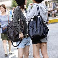 New 2014 Fashion Women Plaid Vintage Cross-Body Messenger Handbag