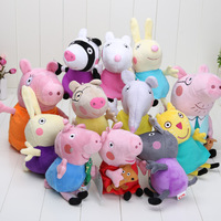 12pcs/lot 19-30CM 2014 New Peppa pig series Peppa family and friends 12styles Plush Doll Toy new arrival
