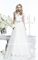 Новый arrvai белый слой многоуровневые органза мяч платье клиент сделал моды Свадебные платья