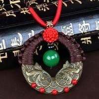 Unique fashion necklace women vintage necklace women agate long pendant necklace sweater chain 0287