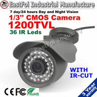 "Freeshipping! promotion 1200tvl 1/3"" cmos 36 ir Leds security cctv cameras outdoor waterproof camera with  ir-cut"