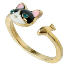 wholesale gold cat ring