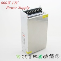 1pc 600W 50A Switching Power Supply AC 100-240V input,12V Output Switch Power For LED Strip Light