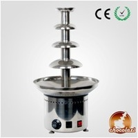 """New Large 4 Tiers Party Hotel Commercial Chocolate Fountain 24"""" Electric 220V Stainless Steel Machine For Parties Free Shipping"""