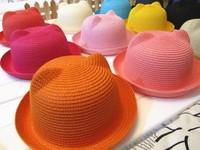 Baby fashion child cartoon panda hat fedoras animal style bucket hats baby sun hat  75G