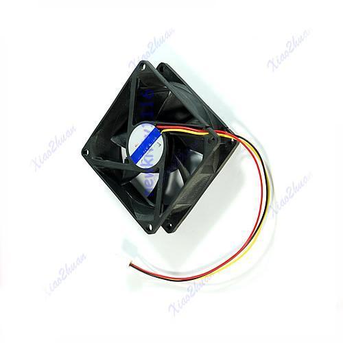E9380mm x 25mm CPU PC Fan Cooler Heatsink Exhaust 3 pin(China (Mainland))