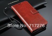 DHL Free shipping,Wholesale 100pcs/lot Newest High Quality luxury 64 Grain Stand Leather  Case For Samsung Galaxy S5 I9600,