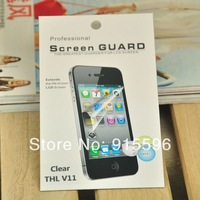 5PCS LCD Screen Protector for THL V11  Senior Clear Film With Cleaning Cloth Free Shipping