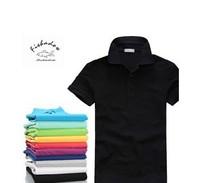 fast delivery 2013 Male summer blended V-neck short-sleeved t-shirt men shirt loose breathable plus size S-XXXL