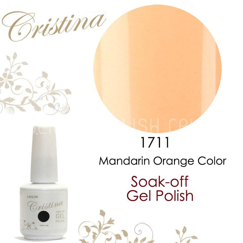 2014 Cristina New Arrival Mandarin Orange Color UV Gel Polish 15ml 0.5oz Nail Gel Free Shipping(China (Mainland))
