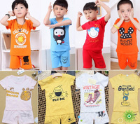 Wholesale children's clothing boys and girls summer cartoon short-sleeved suit childern sets 1-5 years old free shipping
