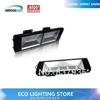 Heavy-duty LED floodlight 240W high power tunnel lights Bridgelux 45mil G1 chip& MEANWELL  115~125lm/W IP68 5years warranty