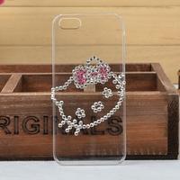 Cute Cartoon bling diamond hard back case FOR Samsung Galaxy S i9088 i897,Transparent Crystal Case for  Galaxy S i9088 i897