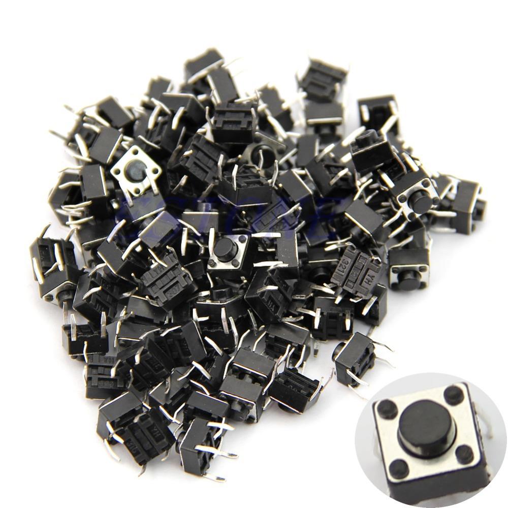 100pcs Tactile Push Button Switch Momentary Tact 6x6x5mm DIP Through-Hole 4pin(China (Mainland))
