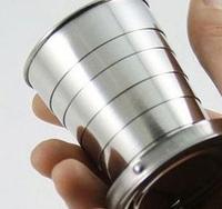 2014 top fasion promotion handgrip protein garrafa termica garrafa stainless steel portable mini travel retractable cup keychain