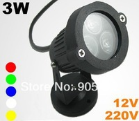 led spot lighting 3*1W 12v or 100-220v for your choice two years warranty free shipping
