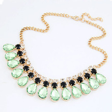 2014 Fashion Imitated Gemstone Jewelry Drop Maxi Collar Statement Necklaces Pendants Choker Collier for Women Mujer