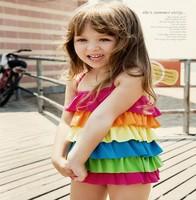 Free Shipping 1Piece/Lot Hot Sale NEW Baby Girls/Chlidren Swimsuits, Girl's Bikini Swimwear,Red Polka Dot one piece swimwear