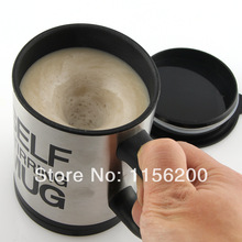 Stainless Plain lazy Self Stirring Mug Auto Mixing Tea Cup Coffee Mug Tea Coffee