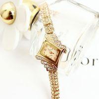 King girl quartz watch fashion women rhinestone bracelet watch rhombus diamond female popular free shipping