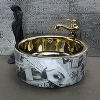 Straight washbasin counter basin wash basin gold