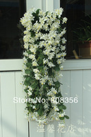 2pcs 70cm Artificial flower Silk winter jasmine flower vine plastic wisteria for home party wedding decorations