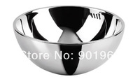 High quality round bowl style double walls-stainless steel 304 bathroom vessel basin wash bowl