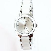 Brand Eyki Kimio 2013 Ladies Ceramic Luxury Bracelet Watches with Ceramic fine steel strap Free shipping K455L