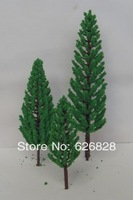 FREE SHIPPING 5cm model trees with green foliage for model train landscape architectural model flat architecture