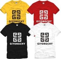 Male women's bigbang giyongchy 100% short-sleeve cotton t-shirt basic shirt Men o-neck t-shirt / 6 color S-XXXL