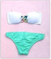 2014 new  sexy bikini wholesale European style with color stone  bikini swimsuit